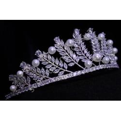 Корона свадебная с жемчугом