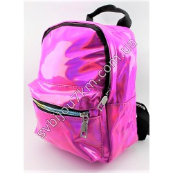 Рюкзак розовый лаковый