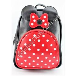 Рюкзак черный с бантиком Mickey Mouse