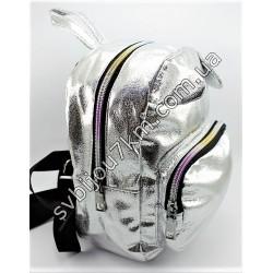 Рюкзак серебристый с ушками