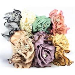 Резинка для волос шифоновые Розы