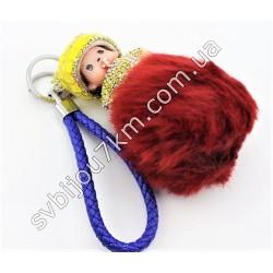 Брелок кукла Monchichi 12 см бордо