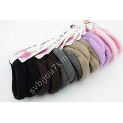 Резинка для волос бесшовная цветная d 6 см