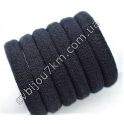 Резинка для волос микрофибра черная d 4 см