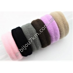 Резинка для волос микрофибра широкая d5 см