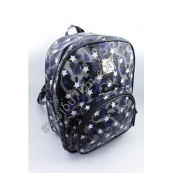 Рюкзак принт хаки с белыми звездами