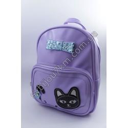 Рюкзак сиреневый с черным котиком