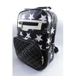 Рюкзак черный с белыми звездами