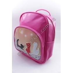 Рюкзак ярко розовый Котики