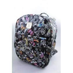 Рюкзак принт серый хаки с бабочками