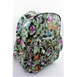 Рюкзак зеленый хаки с бабочками