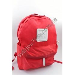 Рюкзак тканевый красный с белым квадратом