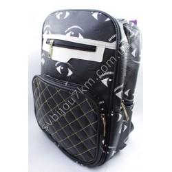 Рюкзак черно белый Глазки