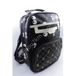 Рюкзак черно белый принт Глаза