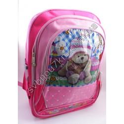 Рюкзак розовый большой Мишка
