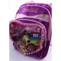 Рюкзак розовый большой Маша и медведь