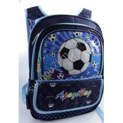 Рюкзак синий большой Футбольный мяч