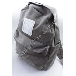 Рюкзак серый тканевый с белым квадратом