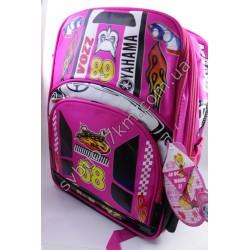 Рюкзак розовый с ярким принтом