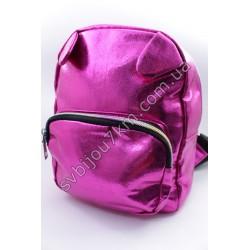 Рюкзак розовый блестящий с ушками