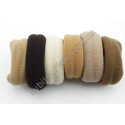 Резинка для волос бесшовная широкая коричневая