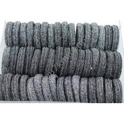 Резинка для волос бесшовная с люриксом d 2 см