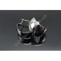 Серьги кольца широкие d 2 см