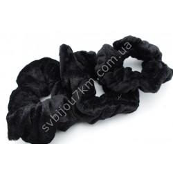 Резинка для волос велюровая черная