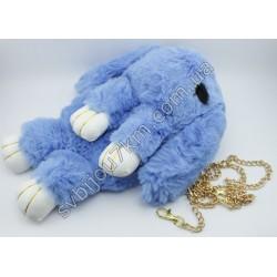 Сумка рюкзак Зайка голубой