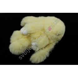 Брелок Кролик бежевый натуральный мех