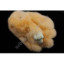 Брелок Кролик оранжевый натуральный мех
