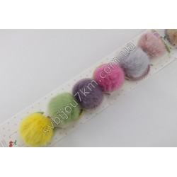 Резинки для волос Шарик из натурального меха