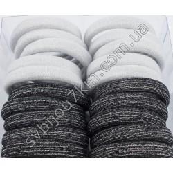 Резинки для волос микрофибра с люриксом