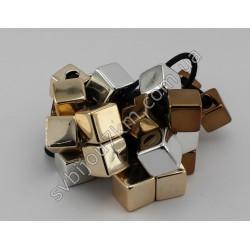 Резинка для волос Кубики золотые