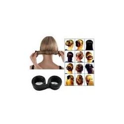Твистер для волос хеагами Hairagami Bun Tail черная