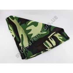 Косынка платок на голову принт камуфляж зеленый