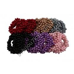 Резинки для волос из цветного жемчуга