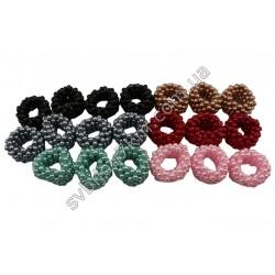 Резинки из цветного жемчуга круглые