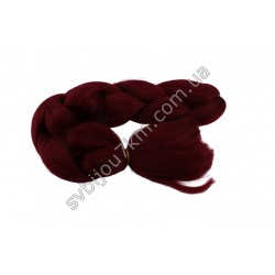 Канекалон для волос бордового цвета
