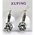 Серьги кольца Xuping с прозрачным кристаллом