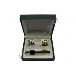Запонки и зажим для галстука в наборе