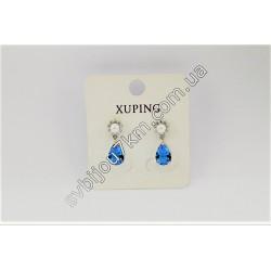 Серьги Xuping жемчуг с голубыми каплями