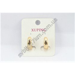 Серьги кольца Xuping цвет металла золото