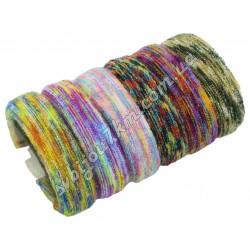 Резинка для волос микрофибра цветная d 4 см