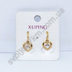Серьги Xuping (Хьюпинг) Сердце цвет металла золото