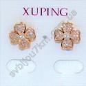 Серьги Xuping (Хьюпинг) с мелкими стразами цвет металла золото