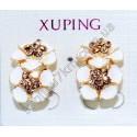 Серьги Xuping (Хьюпинг) белая эмаль