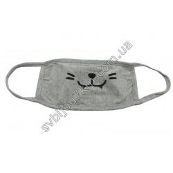 Защитная маска на лицо Котик