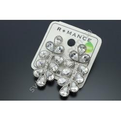 Серьги с кристаллами Перо Жар Птицы