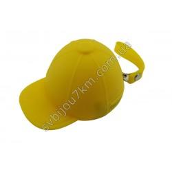Ключница-кошелек Кепка желтая
